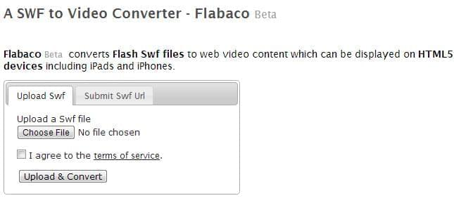 Flabaco Beta SWF to Video Converter