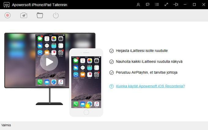 Apowesoft iPhone/iPad Tallennin